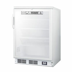 Accucold Scr600glbinz 24 One Section Glass Door Nutrition Center Refrigerator