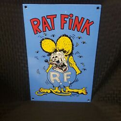 Rat Fink Porcelain Gas Ed Big Daddy Roth Hot Rod Service Chevy Ford Sign