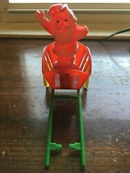 Vintage Candy Container Plastic Santa In Cart - Rosbro