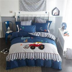 Washed Cotton Childrenand039s Bedding Kit 4 Pcs Textile Cosy Pure Quilt Cover Sheet