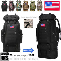 100L 80L Outdoor Military Molle Tactical Backpack Rucksack Camping Bag Travel US $29.44