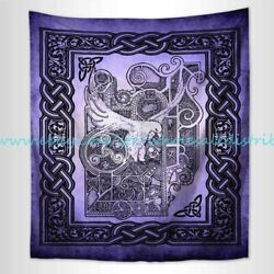 contemporary art celtic wicca pagan dove hippie wall tapestry