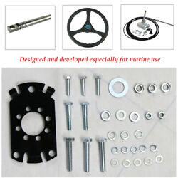 90°bearing Gear Outboard Marine Steering System With Steering Cable Wheel Kit