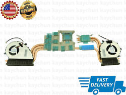 Left And Right Cpu Gpu Cooling Fan With Heatsink For Msi Ge72vr Gp72vr Ms-179b