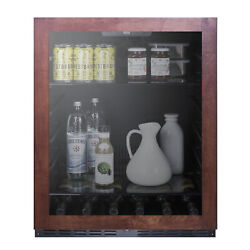 Summit Al57gpnr 24 One Section Beverage Center With Glass Door, 5 Cu.ft