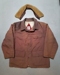 Vtg Cp Company Two In One Parka Jacket W Leather Collar Coat Sz 48 Archive Rare