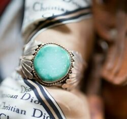 Vintage, Turquoise Cuff, Sterling Silver, Marked, Native American