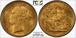 1881m St.george Reverse Sovereign Mcd161 S-3857 Long Tail In Pcgs Ms62