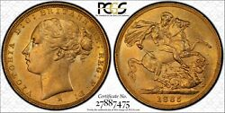 1885m St.george Reverse Sovereign Mcd169a S-3857b Ww Buried In Pcgs Au58