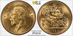 1930m Sovereign In Pcgs Ms63