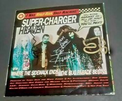 White Zombie Band Signed Super Charger Heaven 7 Album Rob + 2