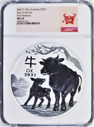 2021 Lunar Year Of The Ox 1 Kilo Bullion Silver 30 Coin Ngc Ms70 First Releases