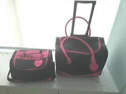 SALE Mary Kay Consultant Rolling Organizer Cosmetic Black Pink Luggage CLEAN $79.99
