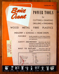 Boice Crane Power Tools Catalog 52 1952 Cutters Drills Sanders Planers Lathes