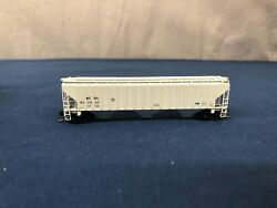 Pacific Western Rail N Scale Bcol 3-bay Hopper W/ Mt Couplers No Box