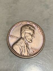 1949-s Lincoln Penny Rinbow Colors