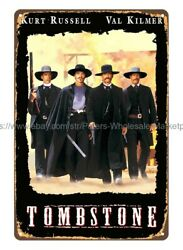 TOMBSTONE MOVIE POSTER metal tin sign dorm room wall decor