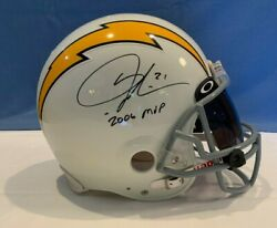 Ladainian Tomlinson Authentic Game Issue Autographed San Diego Chargers Helmet