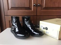 Old Soles Black Patent Leather Girls Boot Size 35 Us 3.5 4 $10.00