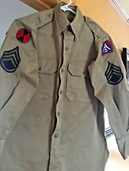 Korean War All Original Shirt - Sargent Patches And Others.