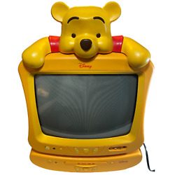 Disney Winnie The Pooh Tube Tv Crt 13 And Dvd Player Yellow Combo Set 2005