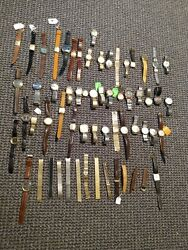 Huge Vintage Watch Lot For Repair Or Parts - Sold As Is Bulova Hamilton Seiko