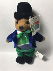 South Africa International Flag Bear Approximately 9andrdquonwt