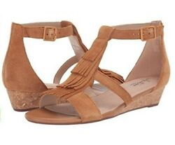 Clarks Collection Abigail Sun Tan Suede Sandal Size 8m New In Box