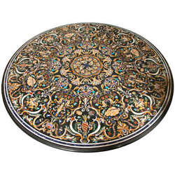 52 Marble Dining Table Top Inlay Rare Semi Round Center Coffee Table Ar0174
