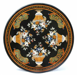 52 Marble Dining Table Top Inlay Rare Semi Round Center Coffee Table Ar0175