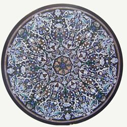 52 Marble Dining Table Top Inlay Rare Semi Round Center Coffee Table Ar0183