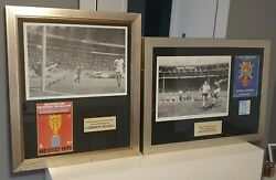 Geoff Hurst And Gordon Banks Signed World Cup Framed Brand New With Coa