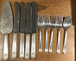 10 Pc Lot Holmes And Edwards Silver Plate Flatware 1935 Century Pattern