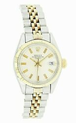 Rolex Ladies Two-tone 14k Gold And Stainless Steel Date Automatic Ref6917