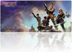 Fortnite Central Xxl Large Gaming Mouse Pad 35.4 X 15.7 Mousepad - Desk Mat