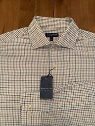 Nwt Peter Millar Crown Crafted Windowpane Button Down Shirt 149. Large