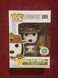 Funko Pop Beagle Scout Snoopy with Woodstock #885 Peanuts Funko Shop Exclusive