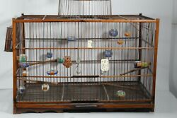 1900 Chinese Antique Hand Made Bamboo Bird Cage