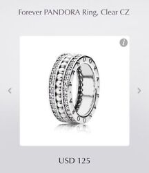 Forever Pandora Ring 190962cz + Free Pouch - Size 6, 7, 7.5, 8.5