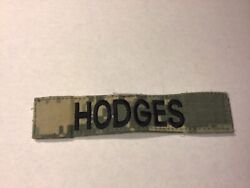 Acu Us Army Hodges Name Tape Patch Velcro® Brand Hook Fastener Euc
