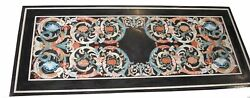 52 Marble Dining Table Top Inlay Rare Semi Antique Center Coffee Table Ar0216