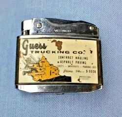 Antique Rare Vernco Vintage Lighter Guess Trucking Company Collectibles Retro