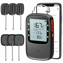 Grill Thermometer, Bluetooth Digital Meat 6 Probes, 230ft Wireless Remote Bbq