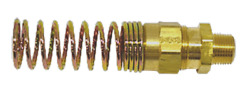 2 Pack-brass Dot Air Brake Hose End Connector 1/2 Hose X 3/8 Pipe W/spring Guard