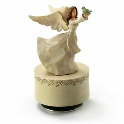 Willow Tree Figurines Collection Custom 18 Note Sculpted Angel In White Holding