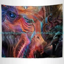 dorm room tapestry Trippy psychedelic eyes aliens wall tapestry