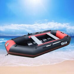 Inflatable Boat Pvc Fishing Ship 5 Person 330cm Rowing Dinghy Kayak Canoe New