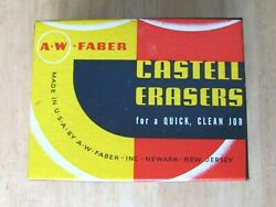 Vintage A W Faber 7084a Office Typewriter Ink Erasers With Brush In Box