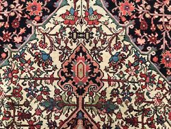 Antique Hand Knotted Wool Carpet Beautiful Ma Layer 4x6 4x7 Organic Dyes