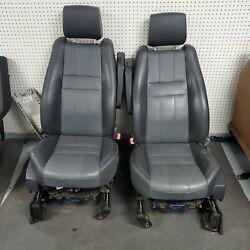 2010-2013 Range Rover Sport Front And Rear Seat Set Black Leather Power Heat